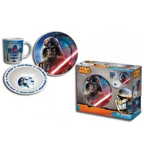SET PETIT DEJEUNER  3 PIECES STAR WARS