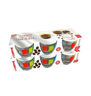 6 TASSES CAFE/SOUCOUPES CIRCUS