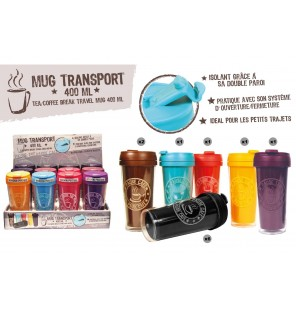MUG TRANSPORT THE/CAFE 40 CL 6 coloris