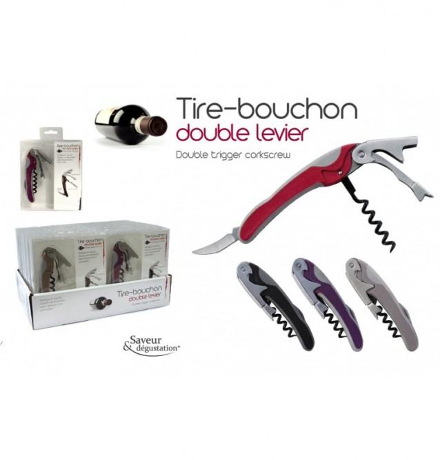TIRE-BOUCHON BICOLORE METAL 4 coloris