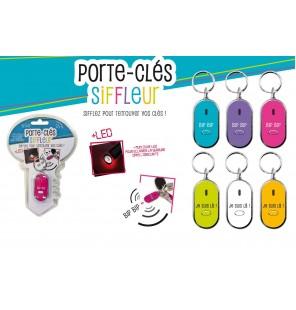 PORTE CLE SIFFLEUR 8 CM 6 coloris