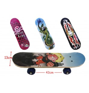 SKATE BOARD BOIS 4 Assortis
