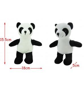 PANDA DEBOUT EN PELUCHE H 15CM