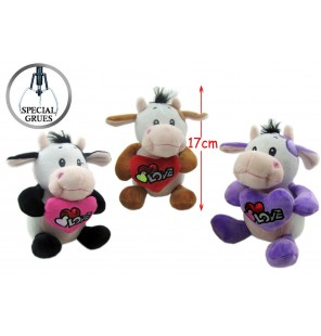 VACHE LOVE H 17 CM 3 Coloris