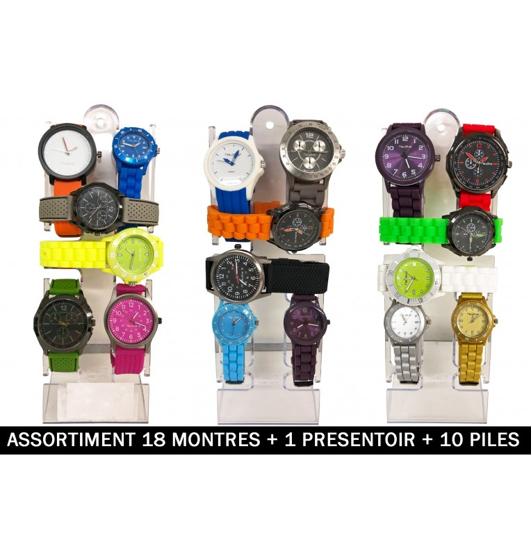 MONTRE ANALOGIQUE QUARTZ 18 Assortiments