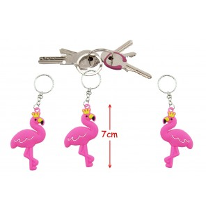 PORTE CLE FLAMANT ROSE