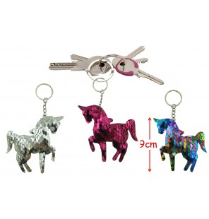 PORTE CLE SEQUIN LICORNE 3 Assortiments