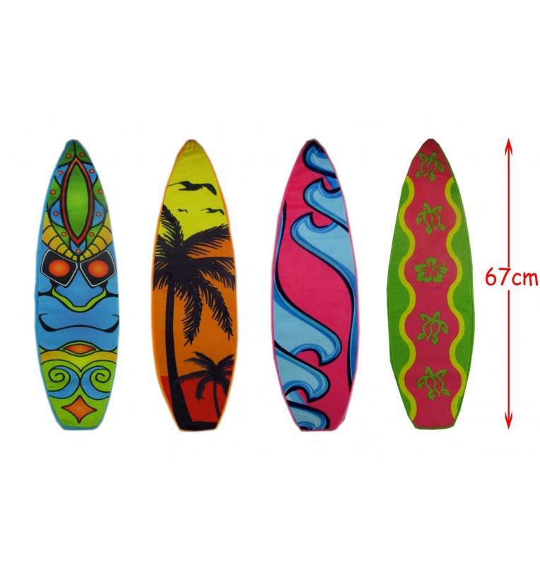 PELUCHE PLANCHE SURF L67 4 COLORIS