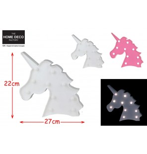 LAMPE LED LICORNE 2 COLORIS