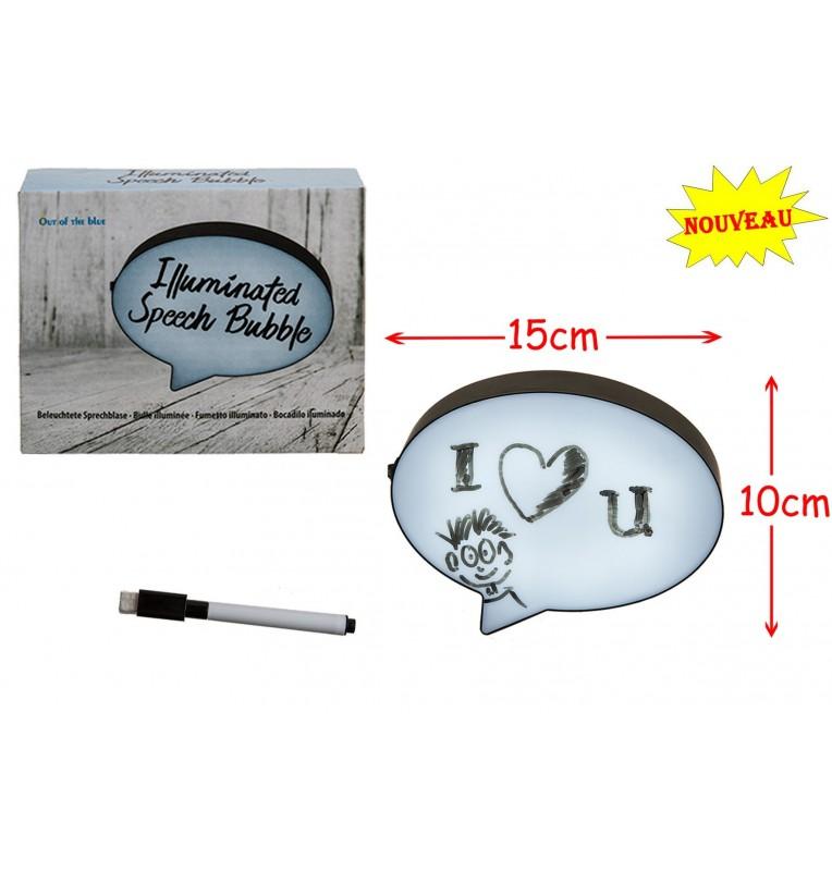 BULLE MESSAGE LUMINEUX 15 X 10 CM