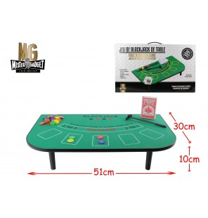 JEU DE BLACKJACK DE TABLE