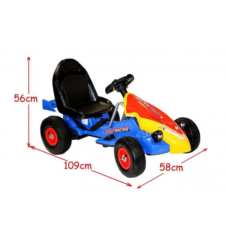 kart électrique 2 moteurs bleu