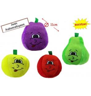 FRUITS EN PELUCHE 4 ASSORTIS