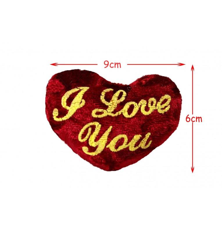 "PORTE CLE COEUR ""I LOVE YOU"""