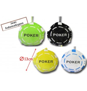PELUCHE JETON POKER 4 COLORIS