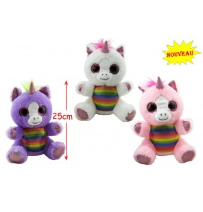 PELUCHE LICORNE ASSISE 3...