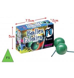 BOITE 6 BALLES ECLAIRS...