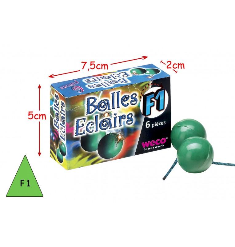 BOITE 6 BALLES ECLAIRS CREPITANTES
