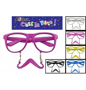 LUNETTE MOUSTACHE 6 coloris