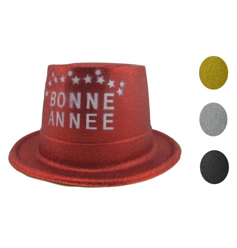 CHAPEAU PAILLETTE BONNE ANNEE 4 coloris