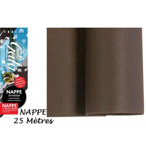 NAPPE INTISSE CHOCOLAT 25 M