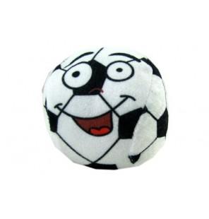 Ballon de football en peluche avec imprimé visage