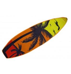 PELUCHE PLANCHE DE SURF 4 ASSORTIS PALMIERS