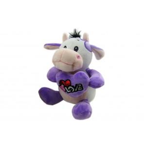 Peluche vache assise Love 3 coloris.