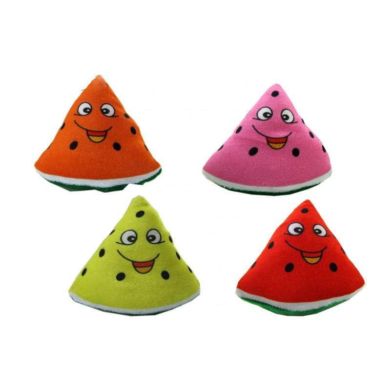Peluche pastèque imprimé visage 4 coloris