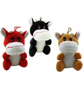 Peluche vache assise 3 coloris.