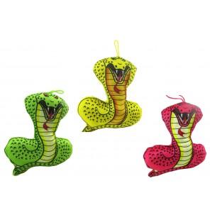 Peluche serpent imprimé 3 coloris.