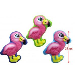Peluche flamant rose imprimé 3 coloris