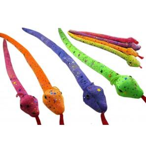 Peluche serpent paillette 4 coloris