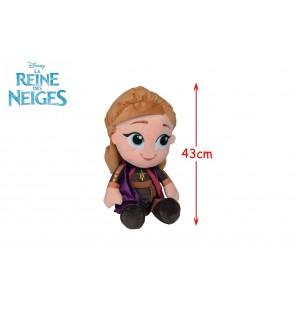 PELUCHE ANNA REINE DES NEIGES 43CM