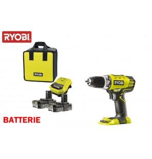 Ryobi coffret perceuse visseuse 2 batteries