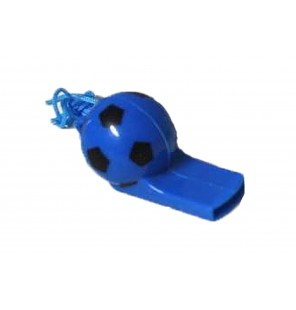 SIFFLET BALLON DE FOOTBALL BLEU