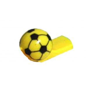 SIFFLET BALLON DE FOOTBALL JAUNE