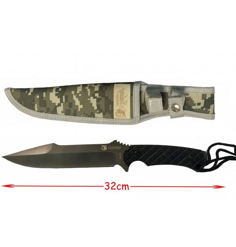 couteau noir militaire avec housse