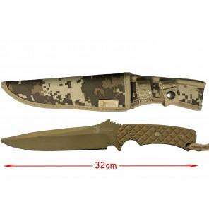 couteau militaire vert avec housse