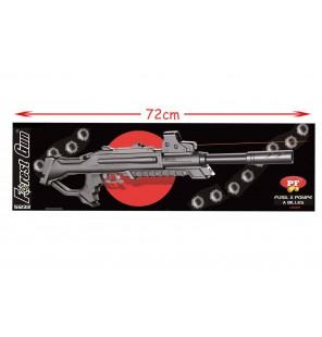 fusil à billes longueur 72cm avec laser