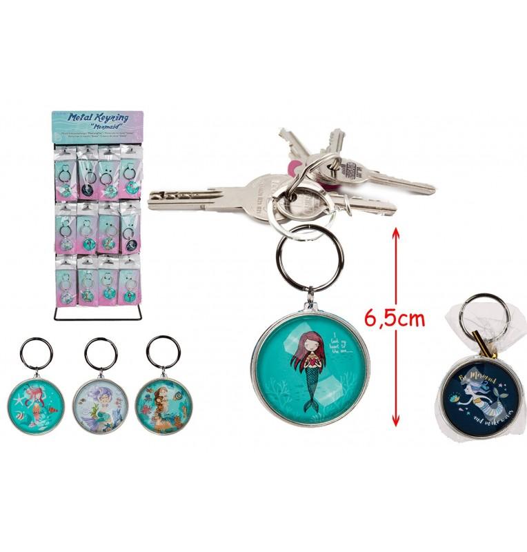 porte clé sirène métal