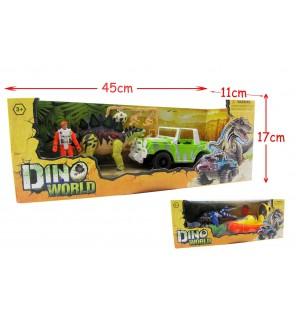 set dinosaure + figurine et accessoires