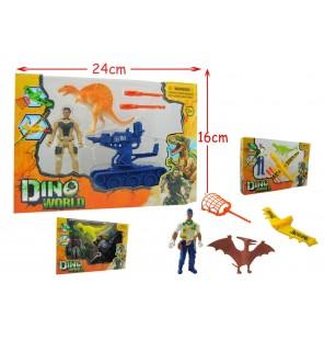 set dinosaure + accessoires