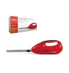 Couteau électrique rouge Domoclip