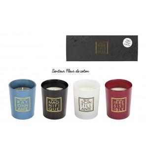 COFFRET DE 4 BOUGIES...