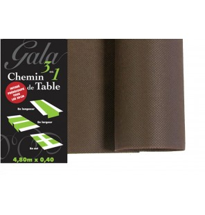 CHEMIN DE TABLE PREDECOUPE INTISSE CHOCOLAT