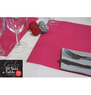 20 SETS DE TABLE INTISSES FUSCHIA