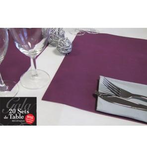 20 SETS DE TABLE INTISSES PRUNE