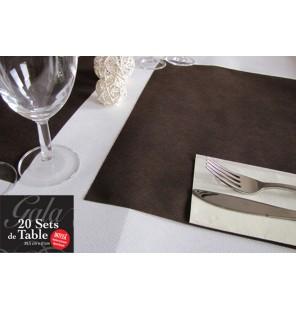 20 SETS DE TABLE INTISSES CHOCOLAT
