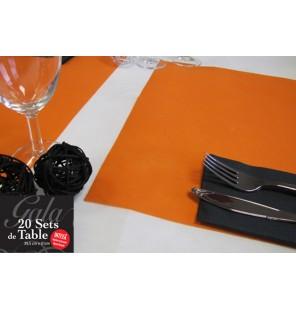 20 SETS DE TABLE INTISSES ORANGE